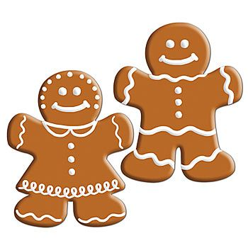 These Mini Gingerbread Cutouts features a fun look of a gingerbread man and women with white icing outlines. Easy to make also. Print blank gingerbread shapes on colored card stock, cut out and let kids decorate!  Using markers instead of craft paints will allow kids to take home right away!