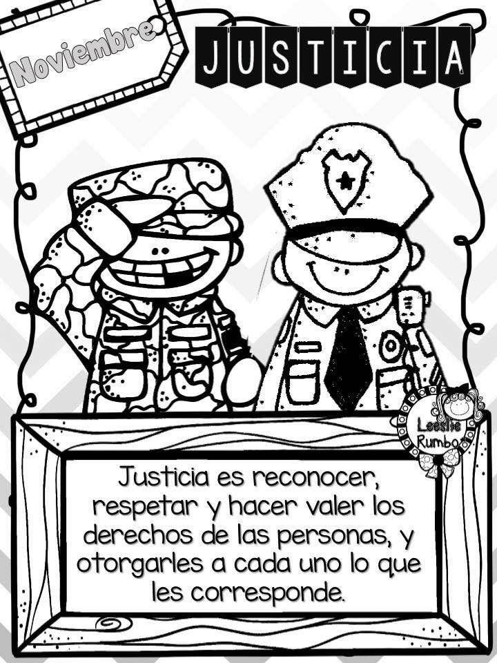 Justicia Educativo Valor De Justicia Actividades De Historia Y