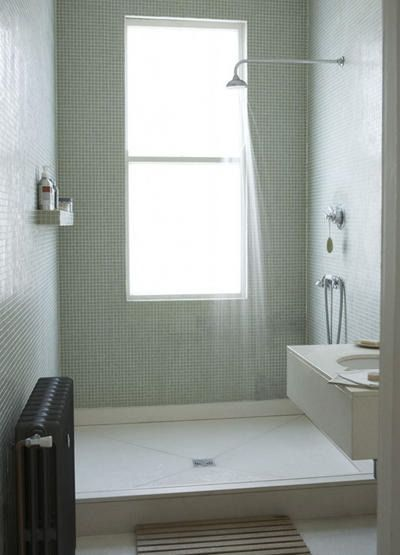 Completely tiled wet room - great way to update an older space