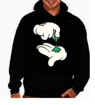 Cartoon hand pinch :Hooded Sweatshirts hoodie screen print