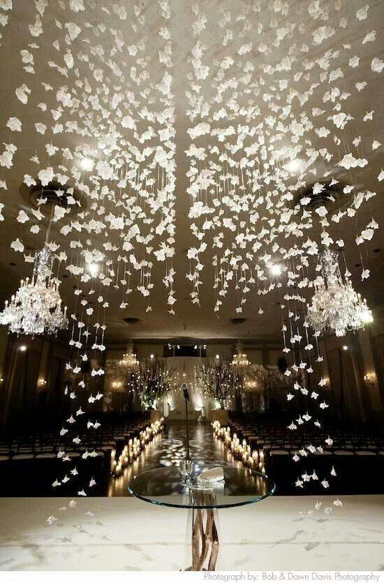 Hanging Decor | HMR Designs #Chicago #wedding #ceremony #canopy