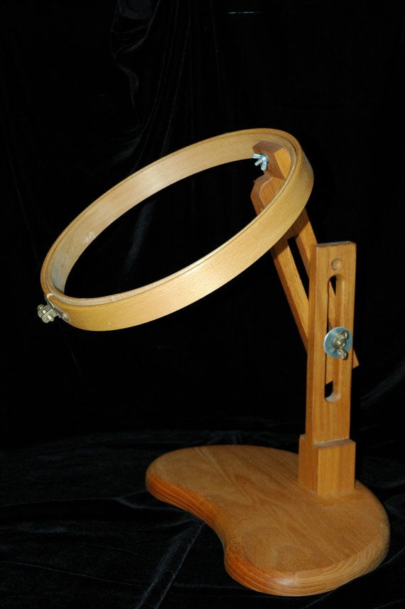 Embroidery stand with hoop by Kenhoops on Etsy