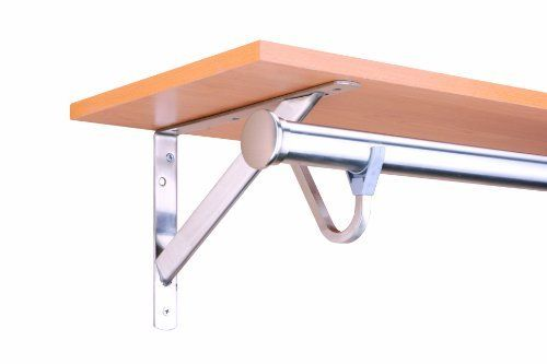 John Sterling RP-0495-BN Heavy Duty Shelf And Rod Bracket
