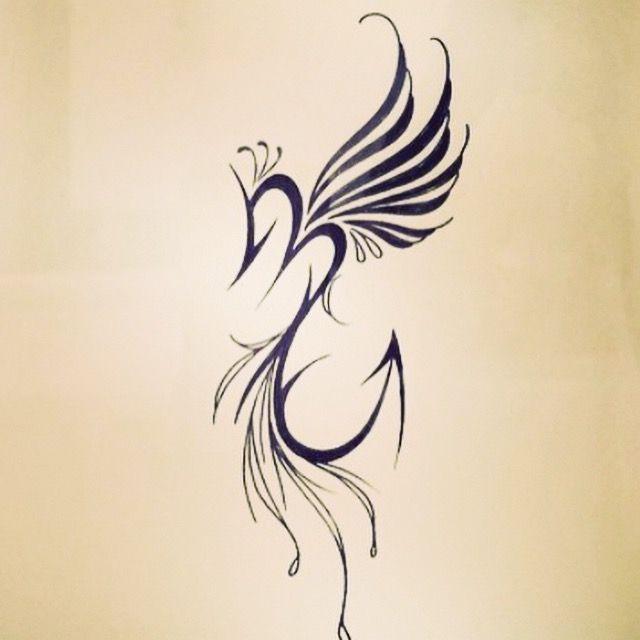 Creative Phoenix Scorpio Tattoo Design