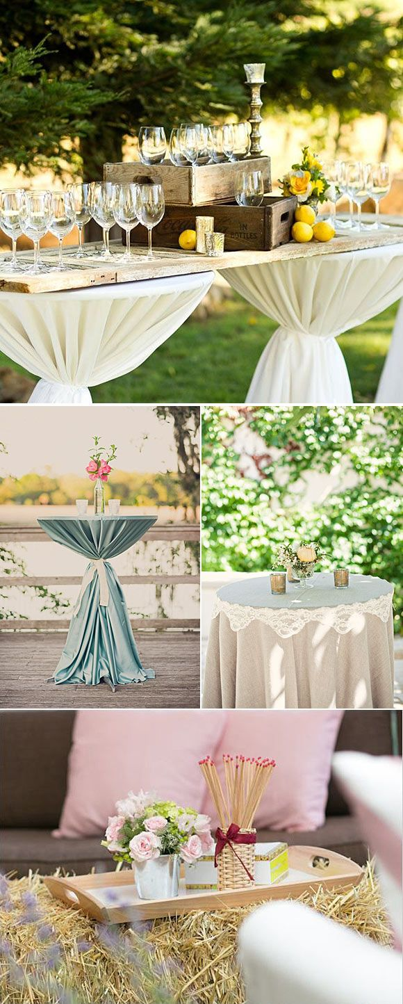 261 best images about cocktail tables on pinterest for Adornos para boda civil