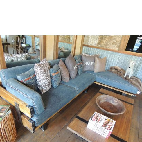 Denim Corner Sectional - Sofas - Living Room - Furniture