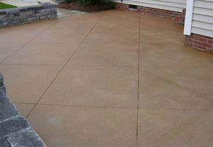 Scored Concrete Patio