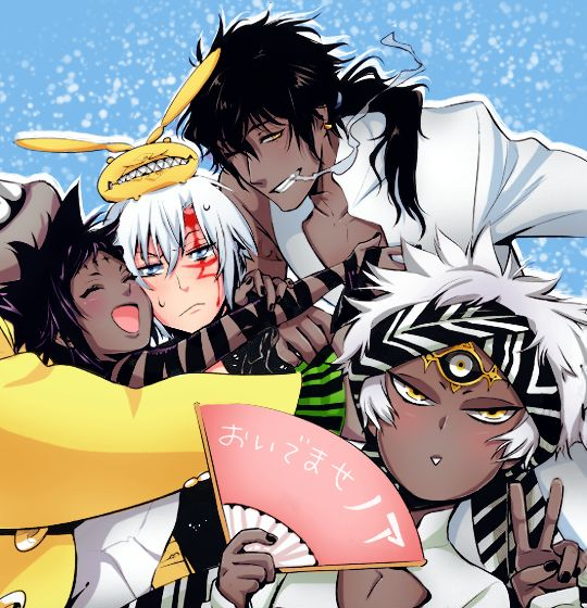 Allen with Tyki, Road and Wisely