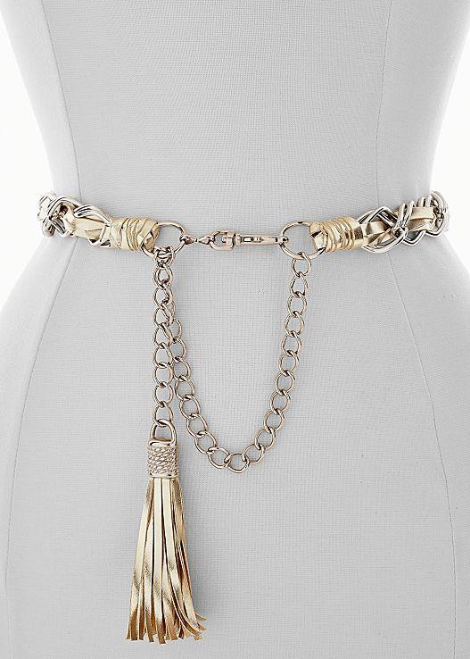 Here's to the right amount of edge! Venus tassel chain belt.