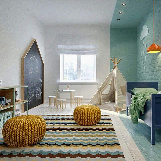 Super leuk idee voor de kinderkamer! #kidsroom #kinderkamer #nursery #babykamer #interieur #interior #kinderzimmer #kindergarten #bolig