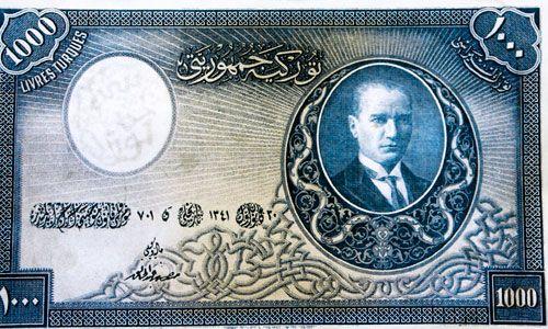15 bin 374 adet basılan banknotun 1939'da tedavülden kaldırıldığında 23 adetinin değiştirilmek üzere Merkez Bankası'na iade edilmediğini bildirerek, bugün Türkiye'de o dönemden kalma 7 adet 1000 TL'lik banknot bulunduğunun tahmin edildiliyor