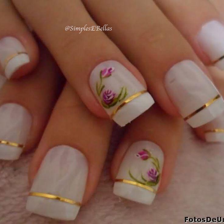Para quem ama unhas francesinhas e está procurando inspiração para fazer um decoração bem bonita, veja abaixo 20 modelos de unhas francesinhas com flor: