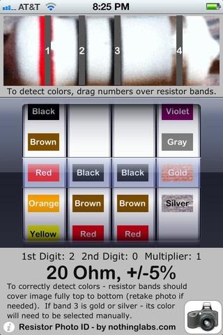 resistor identifier iphone app