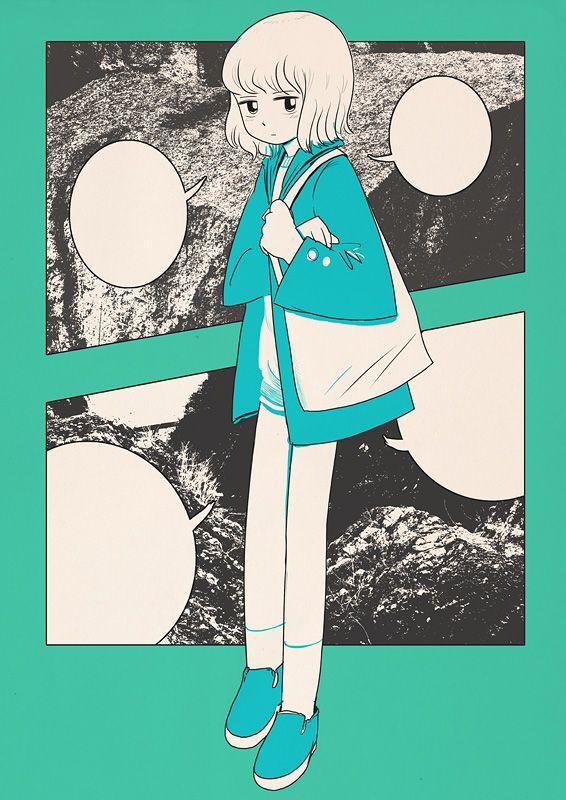 Illustration #turquoise