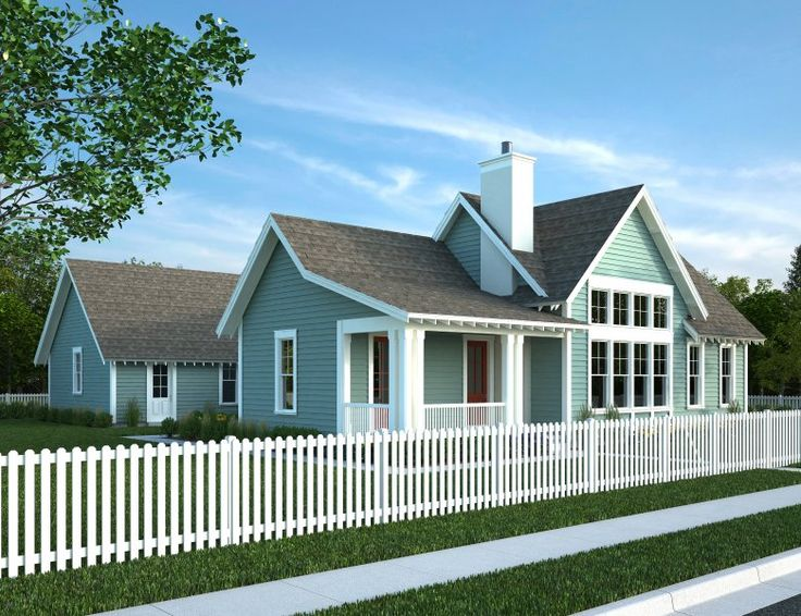 TealGrey Siding White Trim Grey Roof HOUSE EXTERIOR IDEAS NEW Pinterest Home
