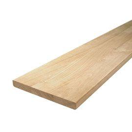Planche rabotée en chêne 20 x 2 cm L.2,20 m
