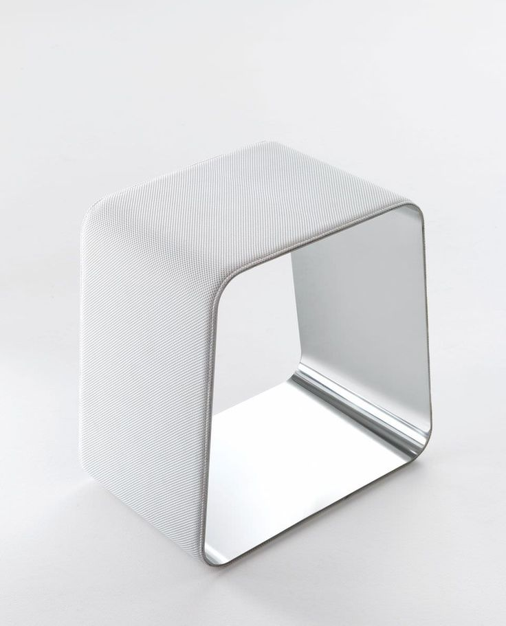 Contemporary stool / leather / stainless steel / upholstered - WGS by Monica Armani - Gallotti&Radice