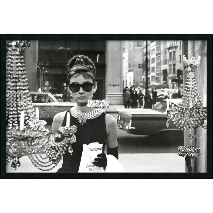 'Audrey Hepburn - Breakfast at Tiffany's' Framed Textured Art | Overstock.com Shopping - The Best Deals on Prints