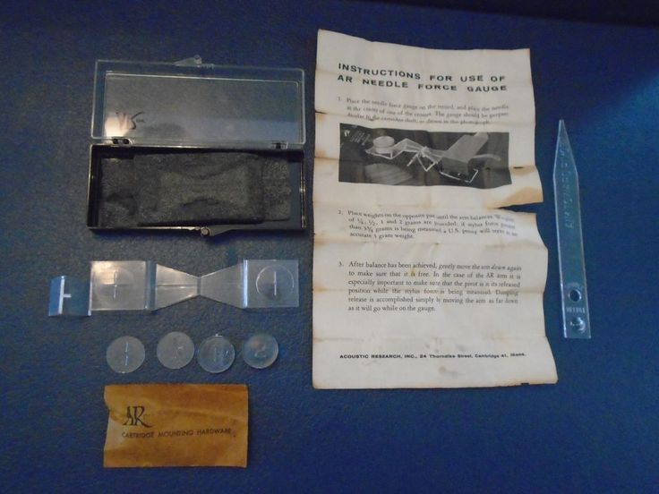 Vintage Acoustic Reasearch Turntable stylus gauge. Needle force gauge