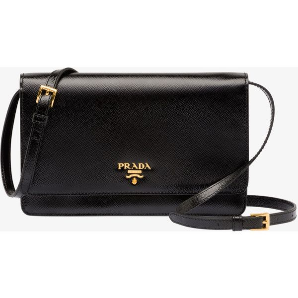 PRADA Small Bag ($1,190) ❤ liked on Polyvore featuring bags, handbags, purses, bolsas, clutches, black, women, black purse, logo handbags and black patent leather handbag