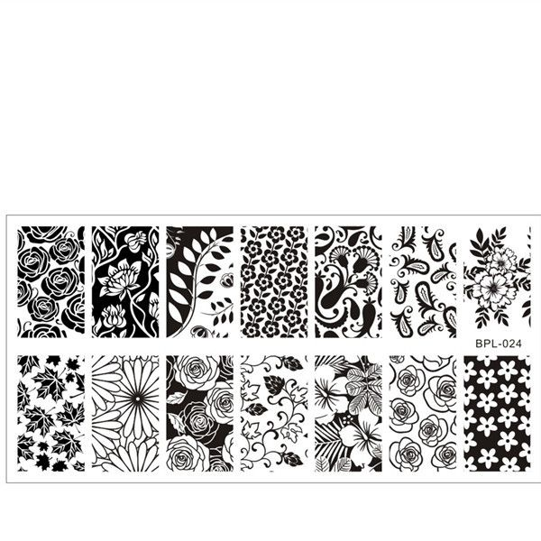 Flower Theme Nail Art Stamp Template Image Plate BORN PRETTY...