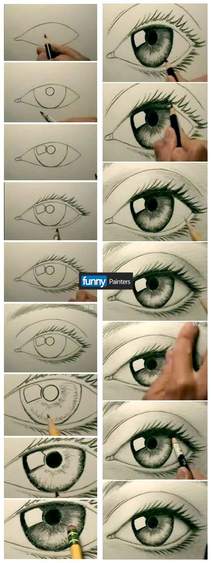 Как рисовать глаза