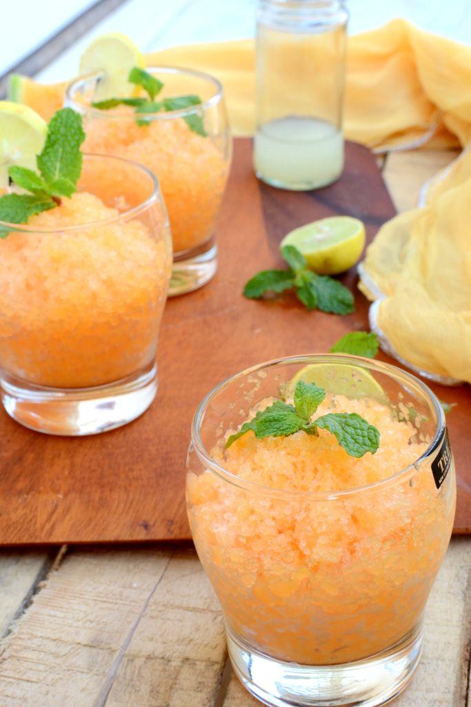 #Canaloupe #Lemon and #Mint #Granita