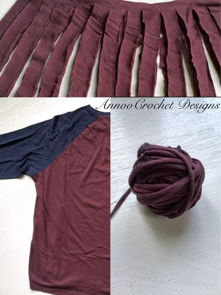 Upcycle your old T-shirt into yarn Free Tutorial by AnnooCrochet Designs