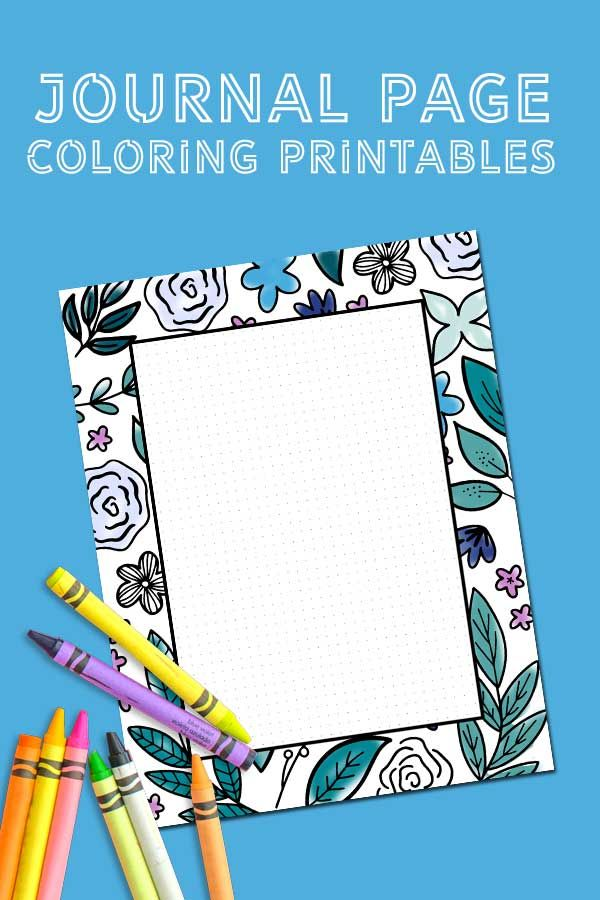 Mindfulness Journal Examples You Can Try Today Free Coloring Journal Printables Free Printable Coloring Coloring Journal Free Printable Coloring Pages