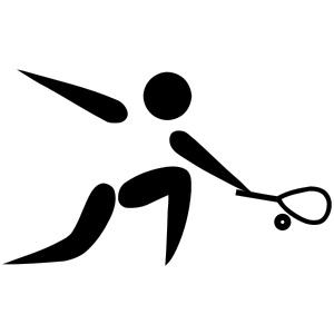 stick man playing squash