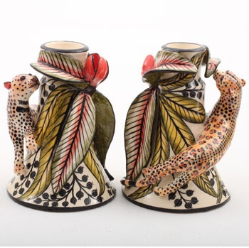 Ardmore Leopard Candlestick Pair: Leopard Candlestick, Ardmore Ceramics, Candlelight, Ardmore Leopard, Ceramic Art, Baby Animals