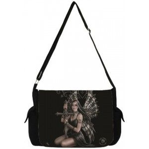 Lost Love Gothic Messenger Bag by Anne Stokes - New at GothicPlus.com - your source for gothic clothing jewelry shoes boots and home decor.  #gothic #fashion #steampunk