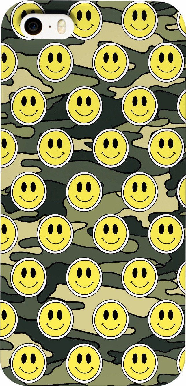 Smiley Green Camo Phone Case
