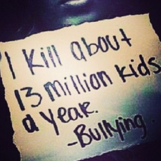 Stop bullying. Kids don't realize how beautiful every one is. Ugly is what's on the inside.