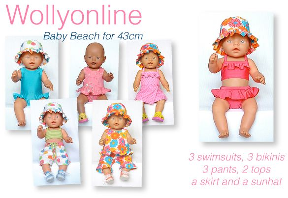 Wollyonline Digital Doll Clothes Patterns - Veel patronen voor babyborn (sommige gratis)
