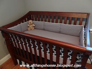 sewing a baby bumper and other crib bedding