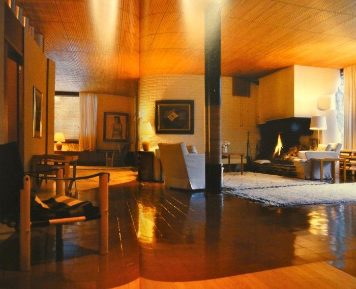 Living Room Villa Mairea Noormaku Finland Alvar Aalto