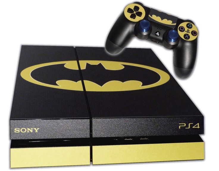 PS4 Skin EXCLUSIVE Original BATMAN Logo with 2 Controller Skins Playstation 4