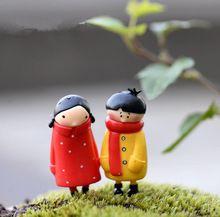 6 шт. милые пары миниатюры фея gnome террариум бутылка смолы сад главная сад феи миниатюры для декора DIY(China)