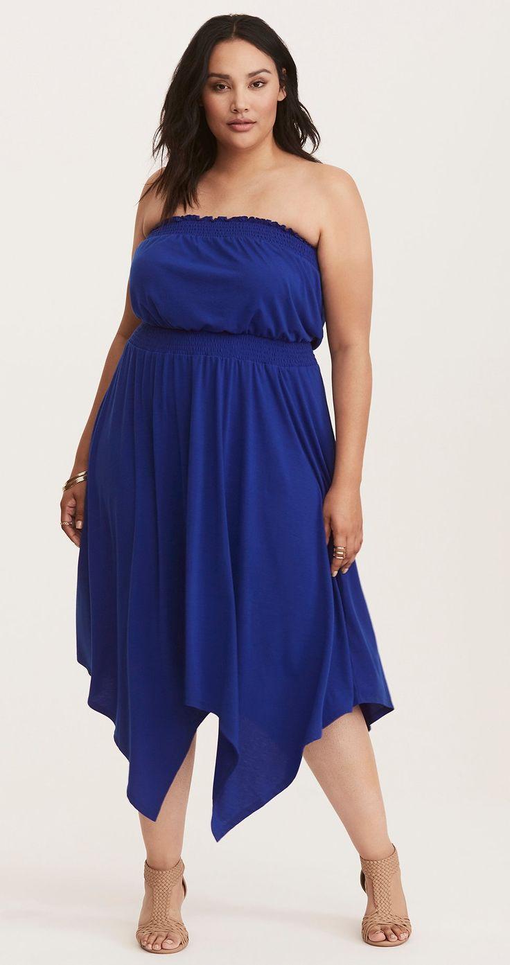 Plus Size Jersey Tube Dress