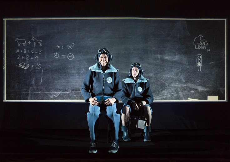 "From ""IF ONLY..."" (2013) - a Teater Hund production. Uffe (Robert Reinhold) and Frede (Bo Carlsson) in the school. Photo: Malle Madsen"