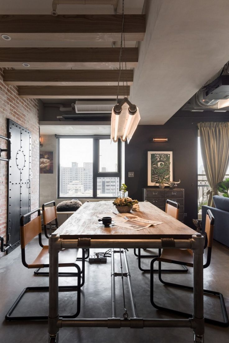 Industrial Apartment Interior Design Taiwan Industrial Dining