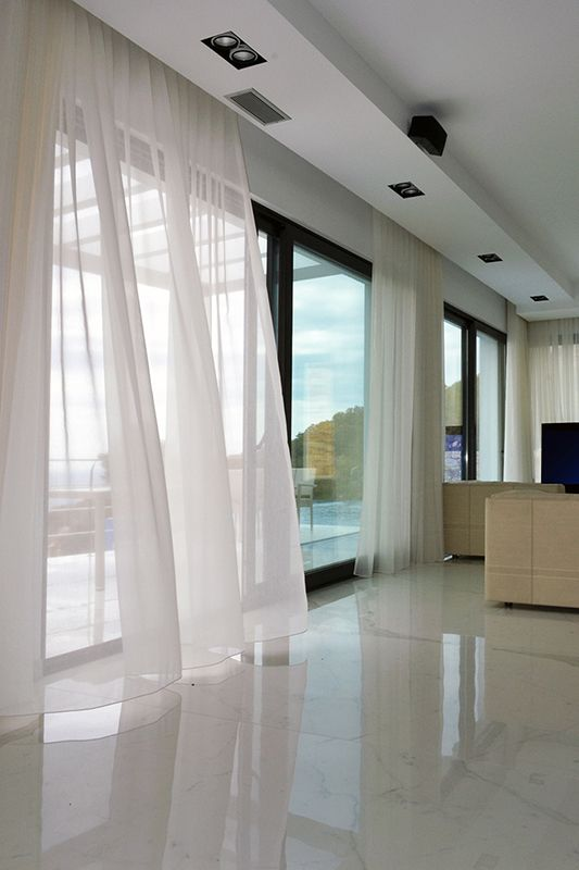 M s de 25 ideas fant sticas sobre cortinas de lino en for Cortinas transparentes salon