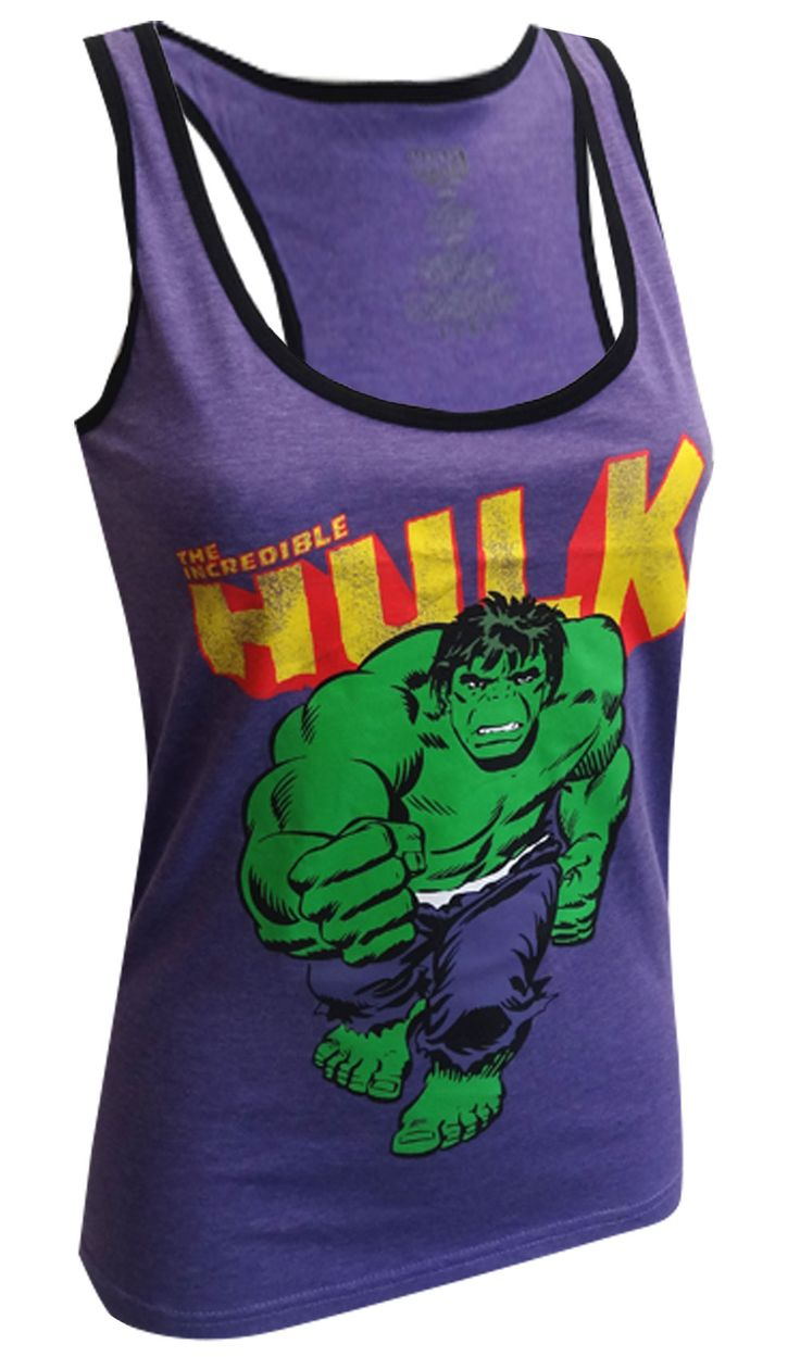 Marvel Comics Incredible Hulk Purple Racer Back Tank Top ... - photo#22