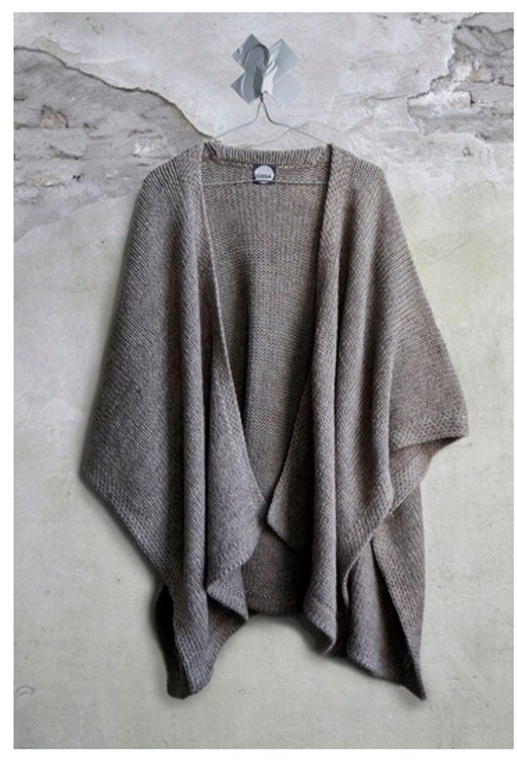 makkelijk omslagdoek om te breien, easy shawl to knit