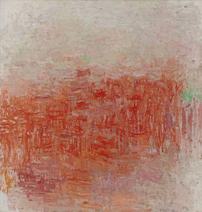 "Philip Guston, 1954. Oil on canvas, 63 1/4 x 60 1/8"" (160.6 x 152.7 cm). Philip Johnson Fund. © 2012 The Estate of Philip Guston."