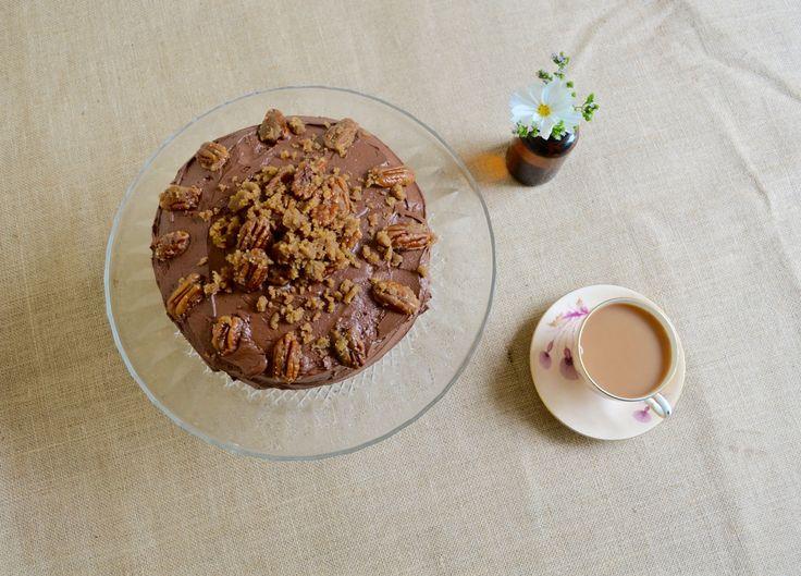 Gluten Free Chocolate Cake With Fudge Pecans