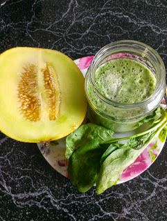 Melon spinach smoothie
