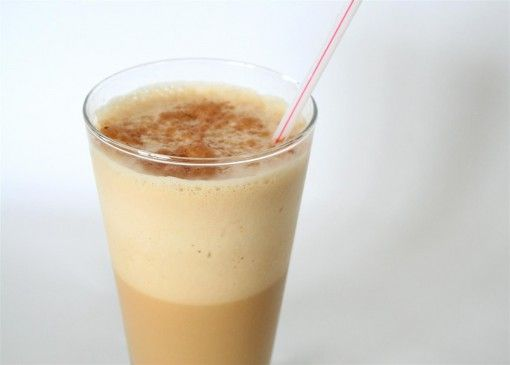 Low Cal Frappuccino:      1 cup unsweetened almond milk      1 tsp. instant coffee      2 packets Truvia/sweetner      4-5 ice cubes      ½ tsp. pure vanilla      Blend until it becomes the frothy, cold goodness it's supposed to. 46 Calories. Serves 1.