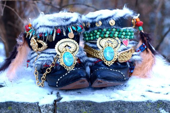 Boho upcycled tribal personnalisé boho noir par TheLookFactory